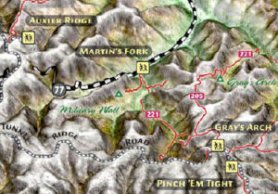 3D Red River Gorge map by OutRageGIS.com.